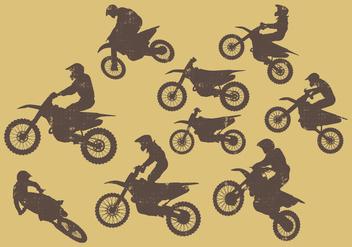 Dirt Bikes Silhouette - vector #387397 gratis