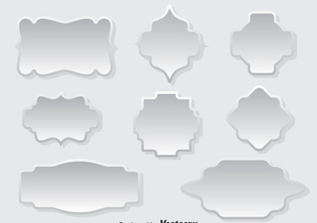 White Cartouche Vector Set - Free vector #387477