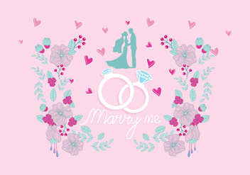 Marry Me Vector - vector #387517 gratis