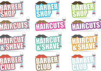 Barber Shop Titles - Free vector #387527
