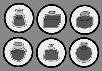 Simple Black Ink Pot Vector - Kostenloses vector #387707
