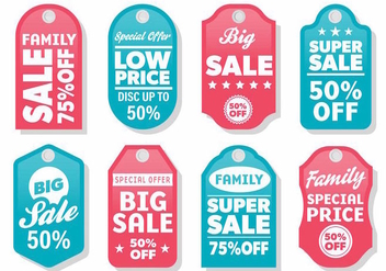 Free Modern Label Sale Vector - Free vector #387737