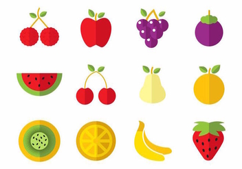 Free Fruits Icons Vector - бесплатный vector #387747