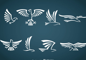 White Eagle Symbol Vector - Kostenloses vector #387847