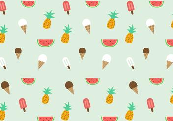 Free Summer Pattern Vector - Kostenloses vector #387897