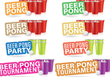 Beer Pong Titles - бесплатный vector #387977