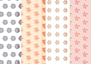 Vector Cute Floral Patterns - vector gratuit #388027