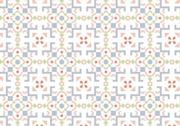 Pastel Mosaic Pattern - vector gratuit #388157