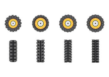 Free Tractor Tire Vectors - vector #388167 gratis