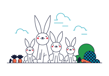 Free Bunny Family Vector - Free vector #388197