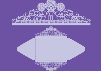Invitation Envelope Court - vector gratuit #388257