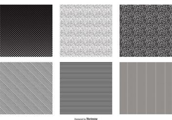 Seamless Black and White Vector Patterns - Free vector #388307