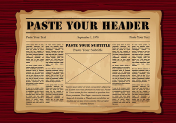 Old Newspaper - Kostenloses vector #388407