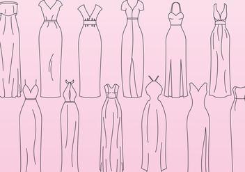 Slinky Dresses - Free vector #388437