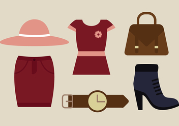 Free Autumn Clothes Vector - vector gratuit #388627