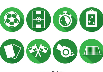 Soccer Element Circle Icons - Free vector #388717