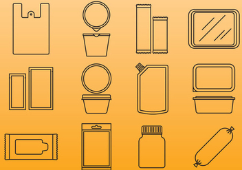 Plastic Package Icons - vector #388777 gratis