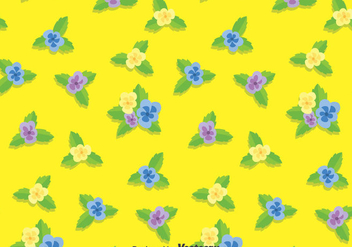 Pansy Flower Pattern Background - vector #388807 gratis