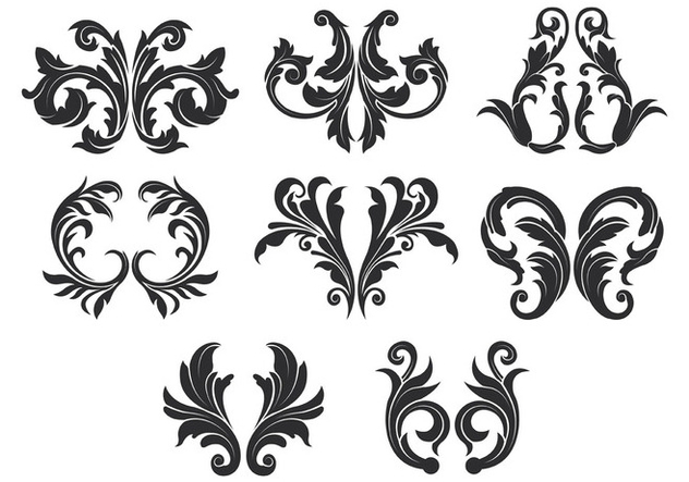 Acanthus Vector Icons - Free vector #388817