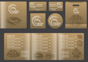 Classic Food Square Menu - vector gratuit #388847