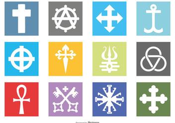 Religious Symbol Icons - Free vector #388957