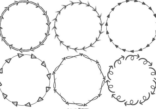 Sketchy Arrow Vector Frames - Free vector #388987