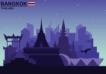 Free Bangkok Illustation - Free vector #389127