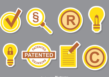 Patent Icons Collection Set - vector gratuit #389197