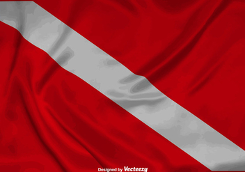 Vector Realistic Dive Flag Background - vector #389217 gratis