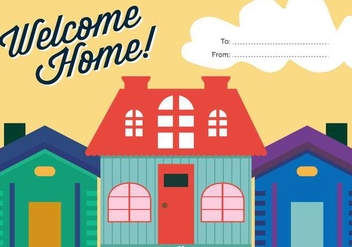 Welcome Home Vector Background - Free vector #389597