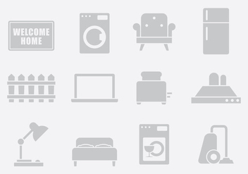 Gray Home Items Two - vector gratuit #389707