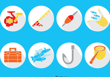 Fishing Element Vector Set - Kostenloses vector #389757