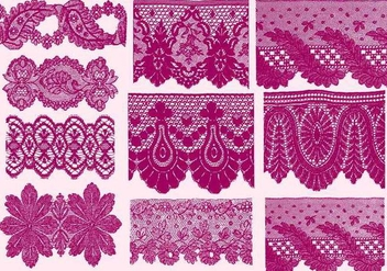 Sample Lace Silhouettes - vector gratuit #389867