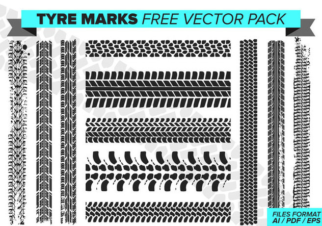 Tire Marks Free Vector Pack - Free vector #389987