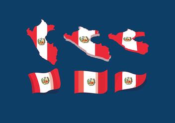 Peru Flag Vector - Free vector #390127