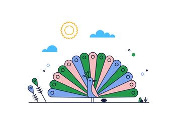 Free Peacock Vector - бесплатный vector #390297