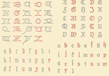 Antique Alphabets - Kostenloses vector #390327