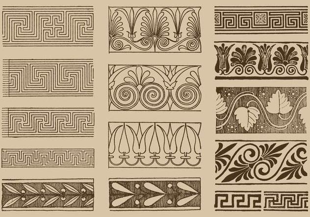 Greek Ornaments - Kostenloses vector #390497