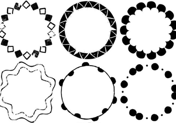 Hand Drawn Vector Frames - Free vector #390547