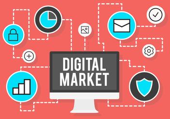 Digital Market Vectors - vector gratuit #391007