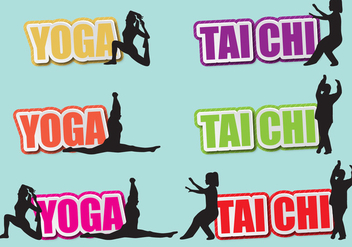 Tai Chi And Yoga Titles - Free vector #391077