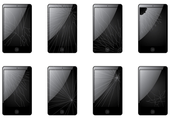 Cracked Screen Smartphone - vector gratuit #391117