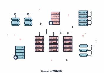 Servers Vector - Kostenloses vector #391187