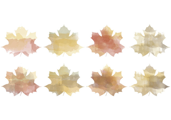 Vector Watercolor Leaves - vector gratuit #391257