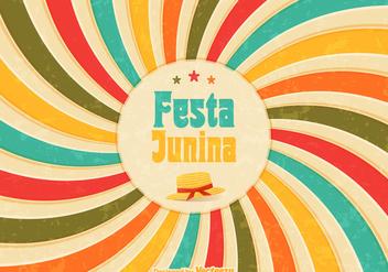 Free Festa Junina Retro Vector Poster - Free vector #391307