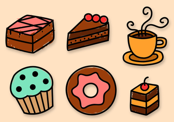 Free Bakery Elements Vector - Free vector #391437