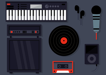 DJ Musical Instruments Vectors - бесплатный vector #391467