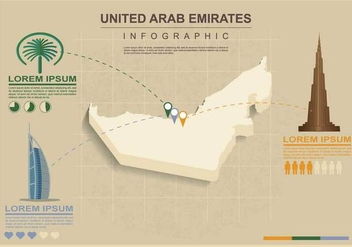 Free UAE map Illustration - Free vector #391627
