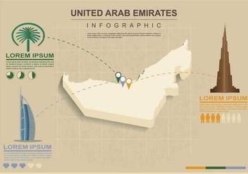 Free UAE map Illustration - Free vector #391627
