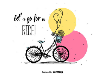 Bicycle Vector Background - бесплатный vector #391657